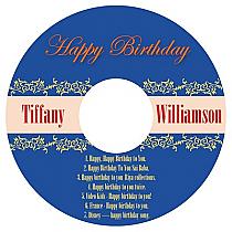 CD Border Birthday Labels