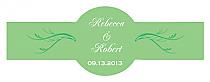 Honeymoon Waves Cigar Band Wedding Labels