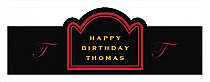 Simple Initial Birthday Billboard Cigar Band Labels