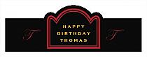 Simple Initial Birthday Billboard Cigar Band Labels