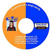 Graduate Graduation CD - DVD Labels
