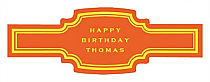 Simple Border Birthday Buckle Cigar Band Labels