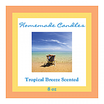 Tropical Breeze Square Candle Labels