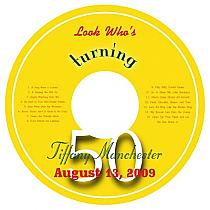 CD Turning Birthday Labels 4.625X4.625