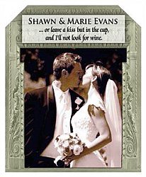 Carving Wine Wedding Labels