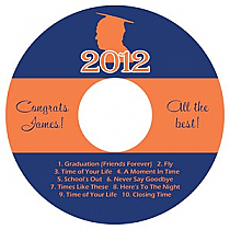 School Spirit CD DVD Graduation Labels