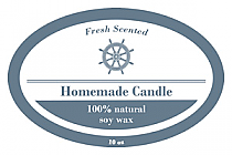 Anchor Candle Label Oval