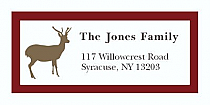 "Custom Reindeer Christmas Address Labels 2"" x .875"""