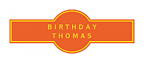 Simple Border Birthday Cigar Band Labels