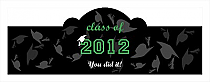 Hats Off Billboard Graduation Cigar Band Labels