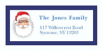 "Santa Christmas Address Labels 2"" x .875"""
