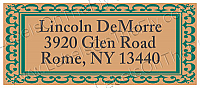 Monarch Designed Address Anniversary Labels