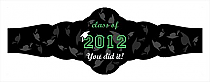 Hats Off Graduation Fancy Cigar Band Labels