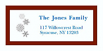 "Snowflakes Christmas Address Labels 2"" x .875"""