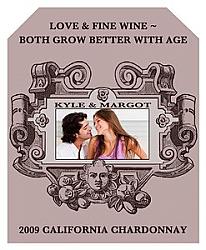 Baroque Wine Wedding Labels