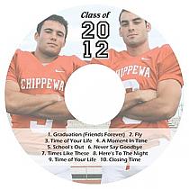 Colleggiate CD DVD Graduation Labels