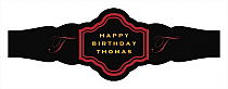 Simple Initial Birthday Fancy Cigar Band Labels