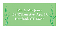 Honeymoon Waves Address Wedding Labels