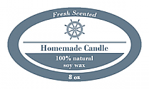 Anchor Candle Label Small Oval