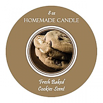 Fresh Baked Circle Candle Labels