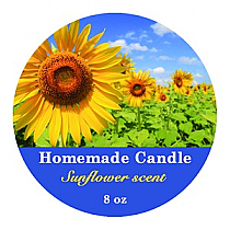 Photo with Text Circle Candle Labels