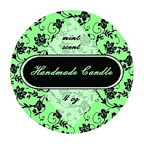 Floral Small Circle Candle Labels