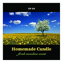 Fresh Meadow Big Square Candle Labels