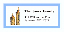 "Two Candles Christmas Address Labels 2"" x .875"""
