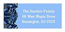 Christmas Art Nouveau Design Address Labels