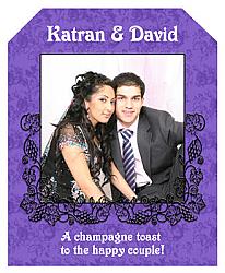 Iron Vine Wine Wedding Labels