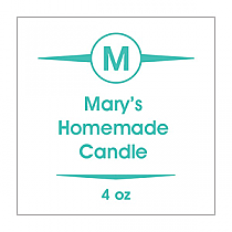 Basic Small Square Candle Labels