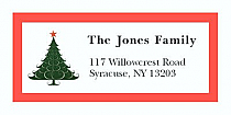 "Christmas Tree Address Labels 2"" x .875"""