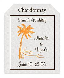 Tropic getaway Wine Wedding Labels