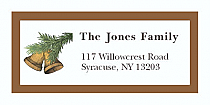 Christmas Tree Bell Address Labels 2 x .875