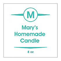 Basic Square Candle Labels