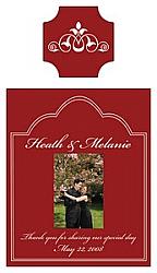Scalloped Rectangle Wine Label 2.5x4.5