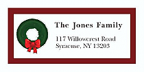 "Wreath Christmas Tree Address Labels 2"" x .875"""