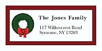 "Wreath Christmas Tree Address Labels 2"" x .875"""