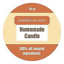 Original Country Big Candle Round Labels