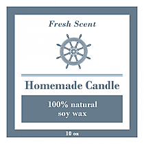 Anchor Big Square Candle Labels