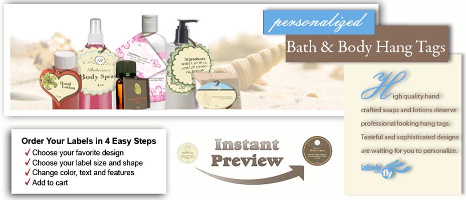 Custom Bath & Body Hang Tag