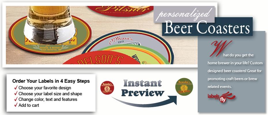 Custom beer coasters