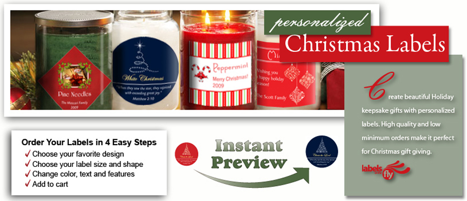 Custom Christmas Labels, custom favor tag  and gift sticker