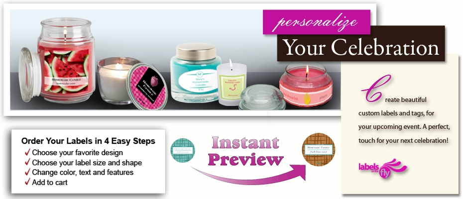 Personalized candle labels custom candle labels candle tin labels candle favor labels votive labels with 1000s design possibilities