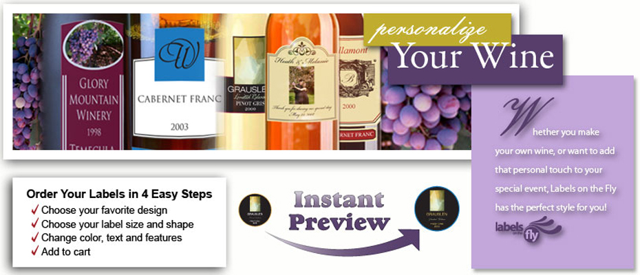 Custom Wine Bottle Labels And Personalized Wine Bottle Labels For - Mini wine bottle labels templates