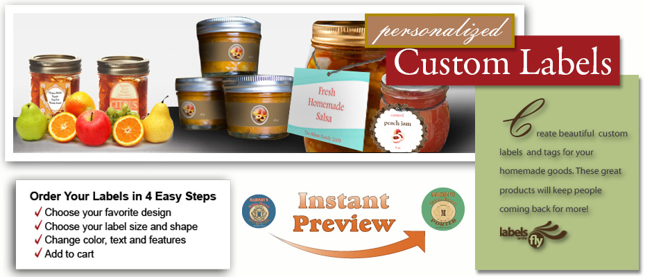 Custom Design food labels, jar stickers, canning labels