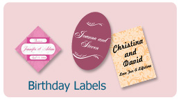 birthday labels - Custom Personalized Birhday Labels and stickers