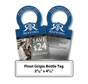 Custom Printed Pinot Grigio Bottle Tag