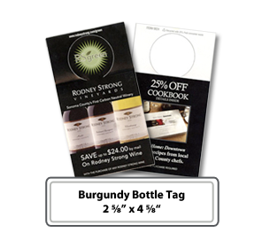 burgundy wine bottle tags