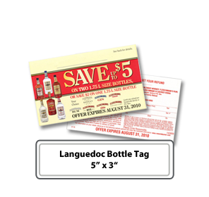 customizable languedoc wine bottle tags